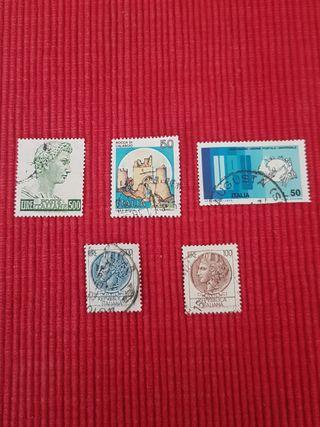 5 sellos de Italia