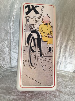 Tintin caja metal herge le petit vingtieme