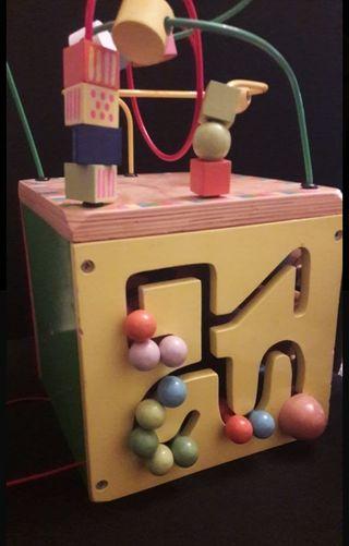juguete laberinto, palanca, 3 en raya