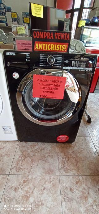 lavadora hoover 9k A+++ 1400 nueva tara