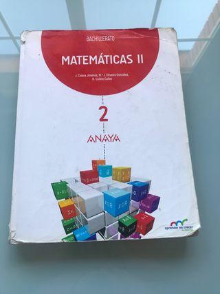 Libro Matemáticas Segundo Bachillerato