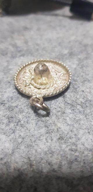 colgante plata sombrero mexicano