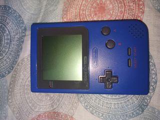 Game boy pocket azul completa.