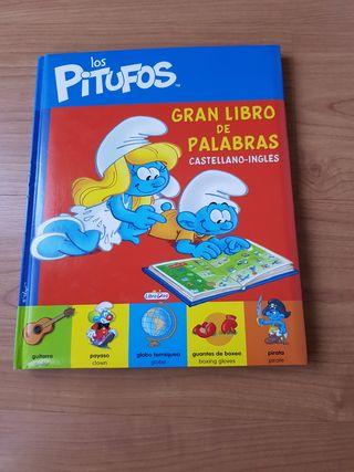Los Pitufos. Gran Libro de las palabras bilingüe