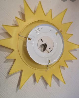 Lámpara sol y moto