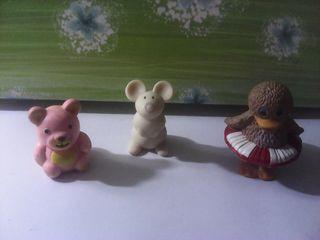 lote 3 figuras animalitos años 80