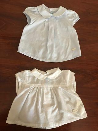 2 camisas bebé Unisex
