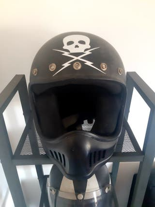 Casco moto custom