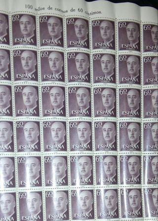 Sellos 60 pesetas