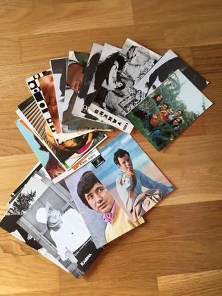 Postales antiguas de cantantes y grupos musicales