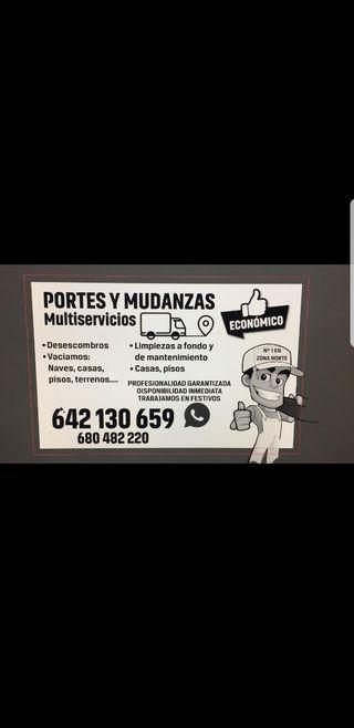 PORTES, MUDANZAS Y TRANSPORTES