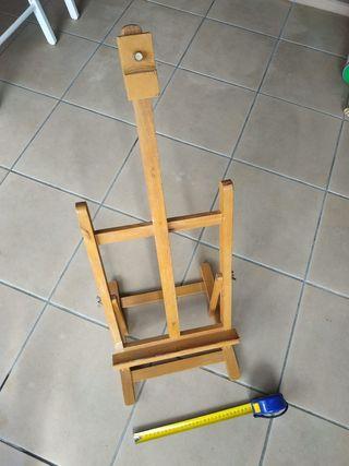 caballete de pintura de mesa de madera