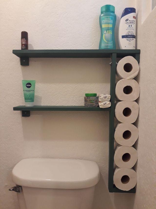 Estante de palet para el baño a medida de segunda mano por ...