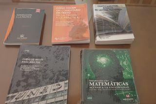 Libros curso de Acceso mayores de 25 UNED