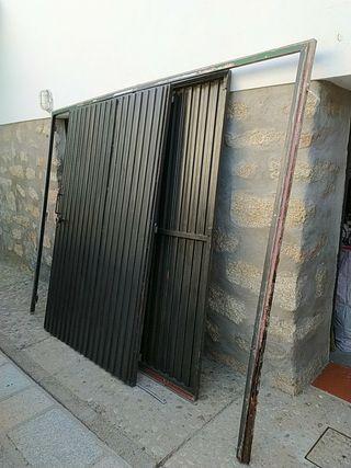 puertas de garaje, 2 hojas