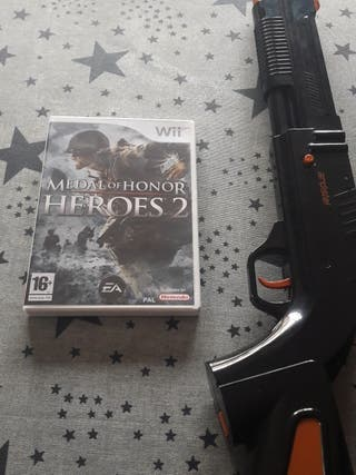 Juego Medal of Honor 2 wii + rifle