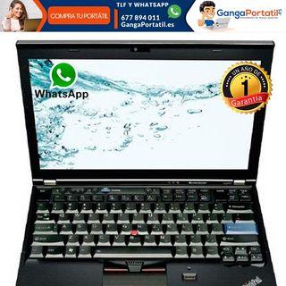 Portátil Lenovo X220, 8Gb/Cam/i5/Win10 Gratis