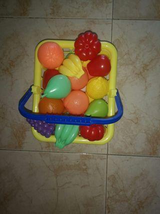 cesta y carrito juguete supermercado