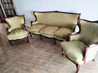 Set 2 butacas y sofá isabelino
