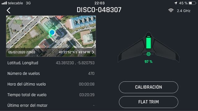 Parrot disco ala avion