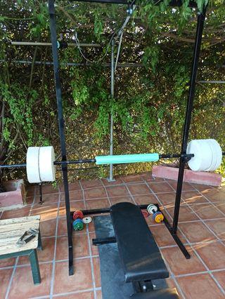 Barra pesas 2m y 60kg en pesas artesanales