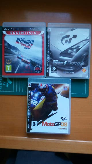 Pack juegos coches / motos PS3