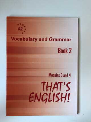 That's English A2 Book 2 Vocabulary and Grammar