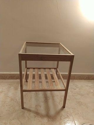 mesa cristal pequeña ikea