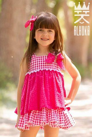 Vestido Alhuka 7 años con etiqueta