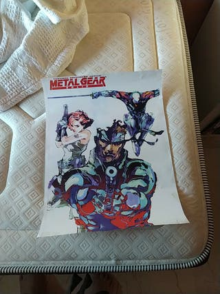 Regalo póster metal gear solid