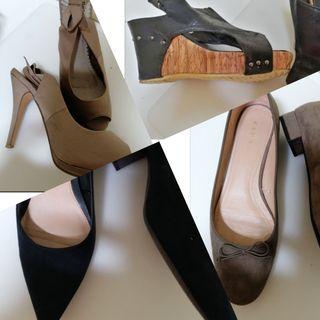 Lote de 4 pares de Zapatos mujer