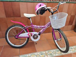 Bicicleta de niña con diseño Violetta+regalo casco