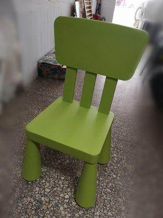 silla plástico