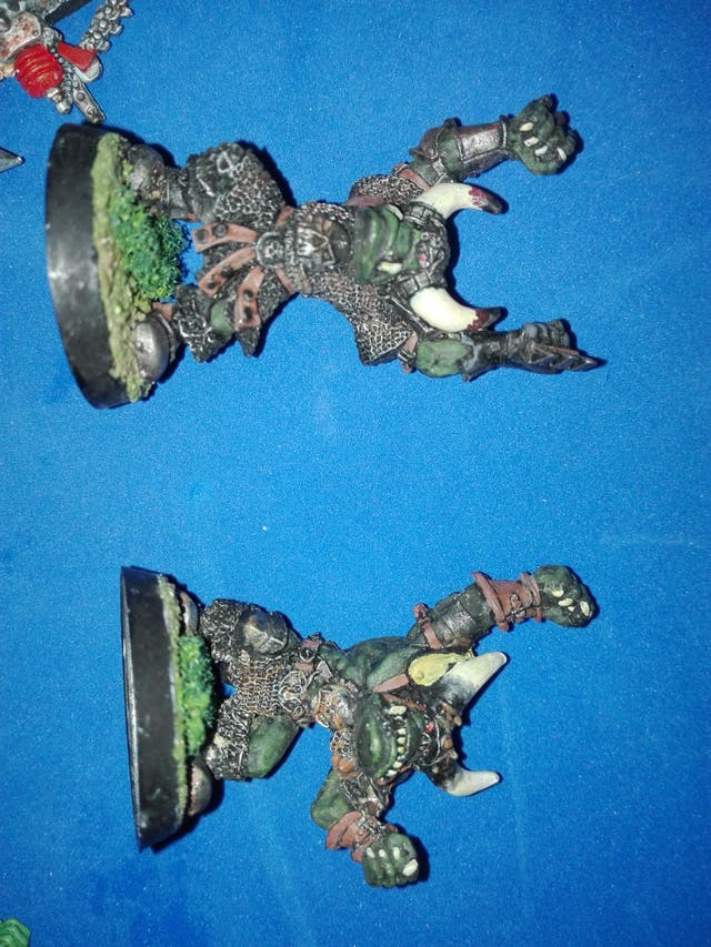 Warhammer blood bowl metal goblins orco