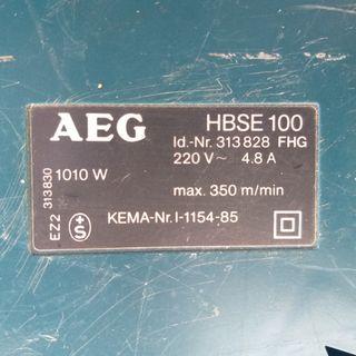 Lijadora de banda AEG HBSE