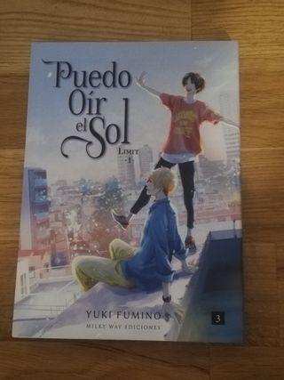 """comic manga yaoi """"puedo oír el sol"""" vol 3 + postal"""
