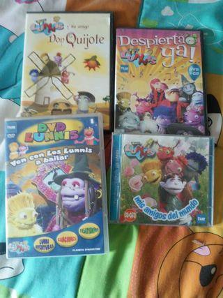 Lote de 4 DVD Los Lunnis.