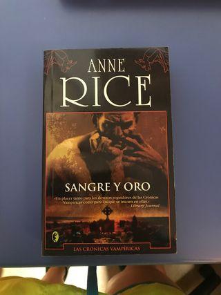 "Anne Rice ""Sangre y oro"""