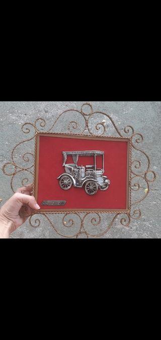 cuadro de terciopelo coche antiguo