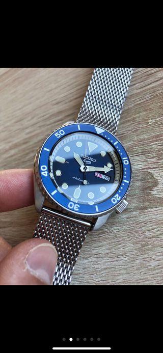Reloj automatico SEIKO SRPD71 AZUL COMO NUEVO !!