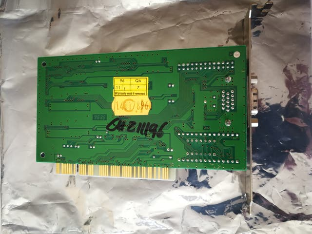 Tarjeta gráfica Cirrus Logic PCI VGA Vintage Retro