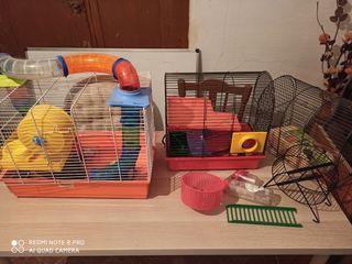 Conjunto de jaulas para hamsters o cobayas