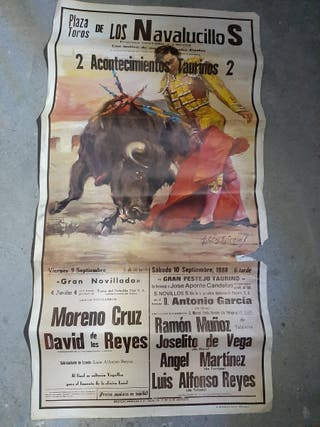 cartel taurino antiguo.