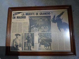 reportaje antiguo de la muerte de Granero