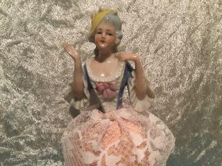 Muñeca half doll art deco porcelana alemana