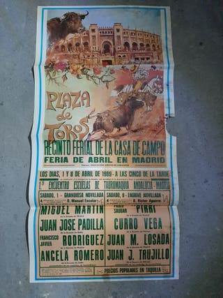 Cartel Taurino Madrid antiguo