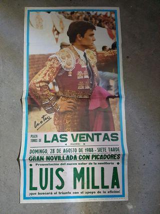 Cartel taurino Luis Milla