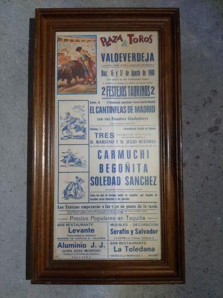Cartel de feria taurina antiguo