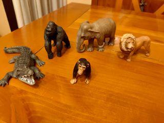 5 animales colección Schleich