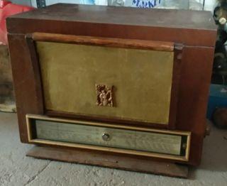 Radio tocadiscos vintage